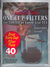 MiniMinit Disposable Paper Tea/Coffee Filters