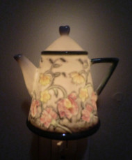 Floral Teapot Night Light