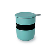 Curve Asian Style Tea Cup - Turquoise