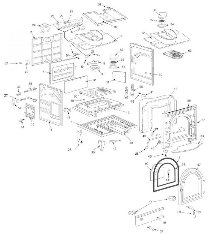 Stove Parts - Consolidated Dutchwest Parts - Dutchwest 2461 - Page 1