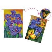 Regular Sub Suede Lilac Irises Flag