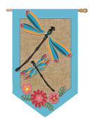 Regular Burlap Dragonflies Flag
