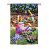 Regular Sub Satin Summer Gardening Flag