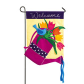 Garden Applique Watering Can Flag