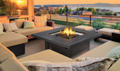 St. Tropez Square Gas Fire Table