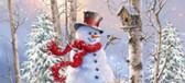 Birch Forset Snowman Switch Mat