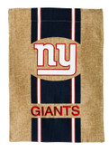 New York Giants Burlap Garden Flag