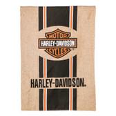 Harley Davidson Burlap Garden Flag