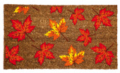 Leaves Flocked Coir Mat
