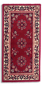 Oriental Burgundy Rectangular Hearth Rug