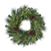 Green LED Pine Cone Wreath
