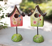 Resin Flower Birdhouse