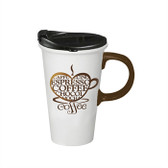 I love Coffee Ceramic Coffee Cup, 17 oz.