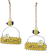 "Bee Happy ""Welcome"" Sign"