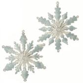 "5.5"" Glittered Snowflake Ornament"