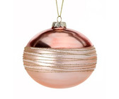 Glass Spun Glitter Thread Ball Ornament