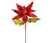 Embroided Velvet Poinsettia Stem