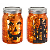 LED Halloween Mason Jar 2 Choices