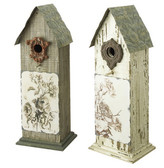 Distressed Natural Bird House