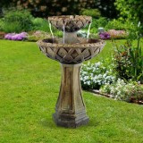 "31"" Two Tier Pedestal Fountain"
