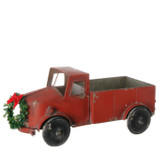 """17.5"""" Rustic Truck with Wreath"""