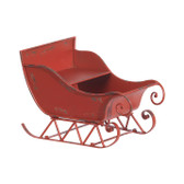 "15"" Rustic Sleigh in Red"