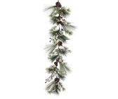 "60"" Frost Mixed Pine with Mini Cones Garland"
