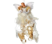 """26"""" Hanging Angel with Harp Ornament"""