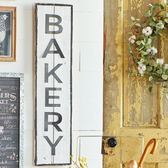 "39.5"" Distressed Bakery Sign"