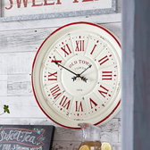 "23"" Distressed Clock"