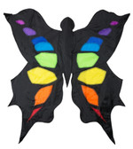 Black & Rainbow Butterfly Kite