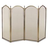 "32""H Mendocino 4 Panel Folding Screen - Antique Brass"