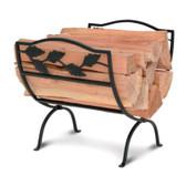 Garden Leaf Wood Holder - Black