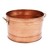 Round Copper Plated Tub