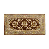 Small Coffee Oriental Rectangular Rug