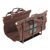 Wright Design Wood Holder w/ Suede Carrier