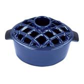 Blue Lattice Top Steamer