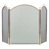 "3 Fold Arched Polished Brass Screen 34""H x 52""W"