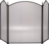 "3 Fold Arched Bronze Screen 32""H x 52""W"