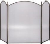 "3 Fold Arched Pewter Screen 32""H x 52""W"