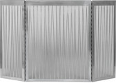"3 Fold Satin Nickle Liner Decorative Screen 32""H x 50""W"