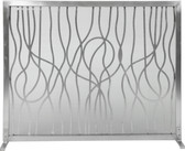 "Stainless Modern Abstract Design Panel Screen 31""H x 39""W"