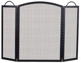 "Black Wrought Iron 3 Fold Center Arch Screen 36""H x 52""W"