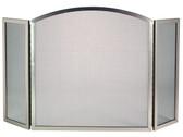 "3 Fold Center Arch Satin Nickel Screen 31""H x 50""W"