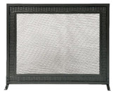 "Black Weave Design Panel Screen 31""H x 39""W"