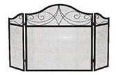"Black Wrought Iron 3 Fold Decorative Arch Screen 30""H x 52""W"