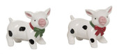 Christmas Pig Salt and Pepper Shakers S/2