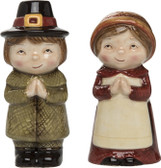 Sweet Pilgrim Salt and Pepper Shakers S/2