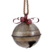 "9"" Galvanized Bell w/ Ribbon"