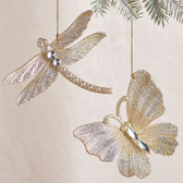 "5"" Butterfly and Dragonfly Ornament"